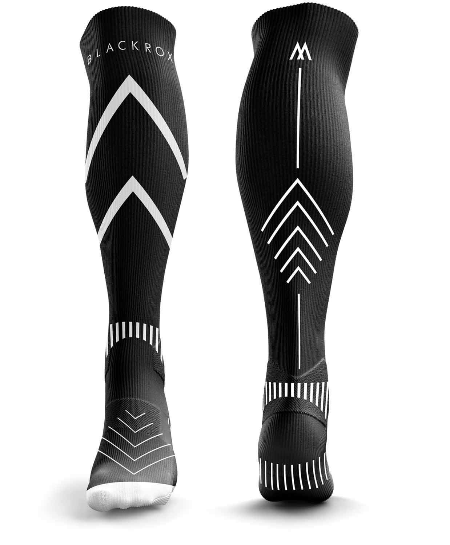BLACKROX Kompressionsstrümpfe Sport Astropreform V1 Kompressionssocken Vergleichssieger Sportkompressionsstrumpf Laufstrümpfe Fussball Damen & Herren Lang Unisex compressions socks
