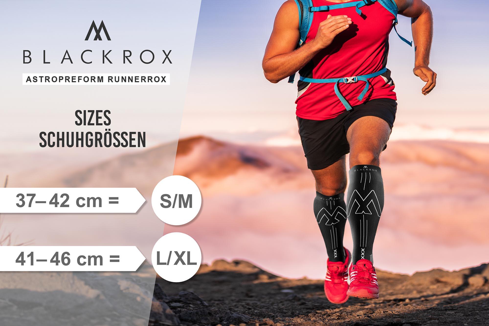 BLACKROX Kompressionsstrümpfe Sport Astropreform Kompressionssocken Vergleichssieger Sportkompressionsstrumpf Laufstrümpfe